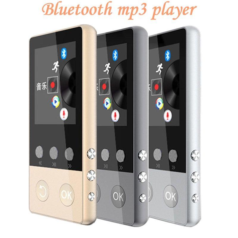 Neueste Metall MP4 Player mit Bluetooth 8 gb 2,0 zoll Bildschirm Spielen 80 stunden können Unterstützung 64 gb SD Karte mit FM Radio Voice Recorder