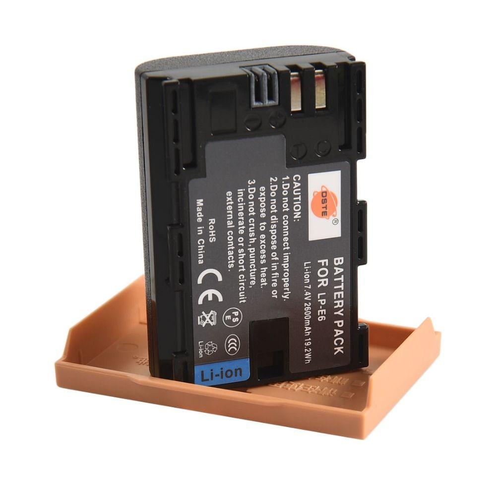 DSTE 20pcs LP-E6 Battery for Canon EOS 5DS R 5D Mark IV 60D 60Da 70D