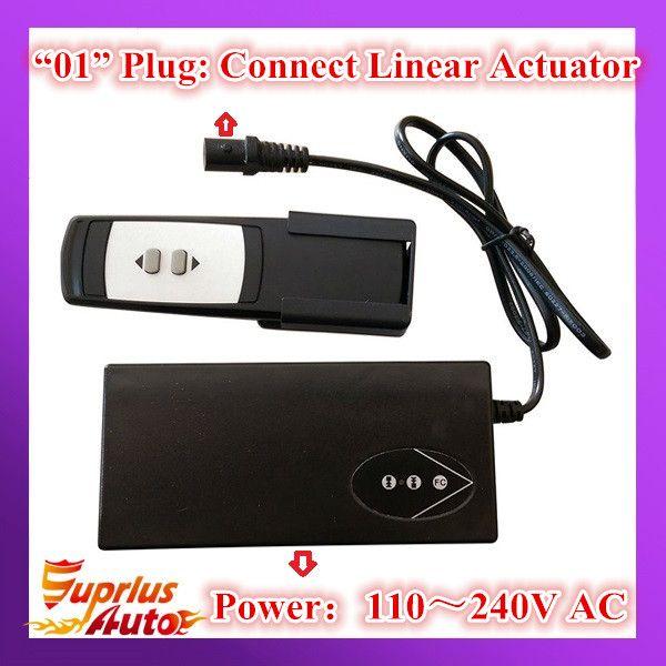 AC100-240V entrée sans fil Type 12/24 V DC sortie actionneur linéaire contrôleur/alimentation pour unité actionneur linéaire