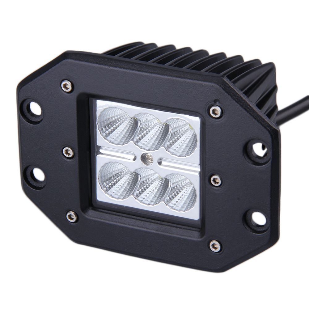UNIVERSAL 1 x 4 INCH 18W for Square Flood LED Work Light Bar Bumper Off Road TRUCK for Jeep 4x4 SUV ATV Flood 12V