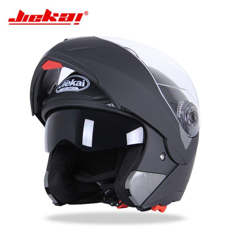 Genuine JIEKAI Safe Flip Up Motorcycle Helmet Summer Double Lens Visor Motorbike Helmet Men Winter Bike Moto Helmets