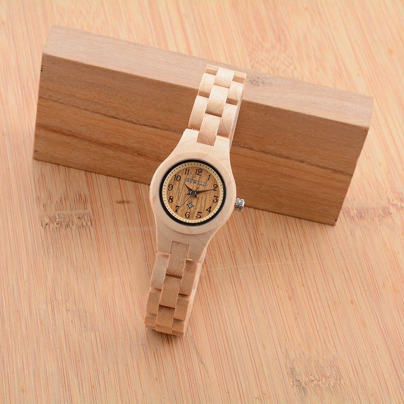 BEWELL Slim Women Bracelet Watch Wood Watch Woman Watches 2017 Brand Luxury Quartz Ladies Watch Digital Relogio Feminino 123A