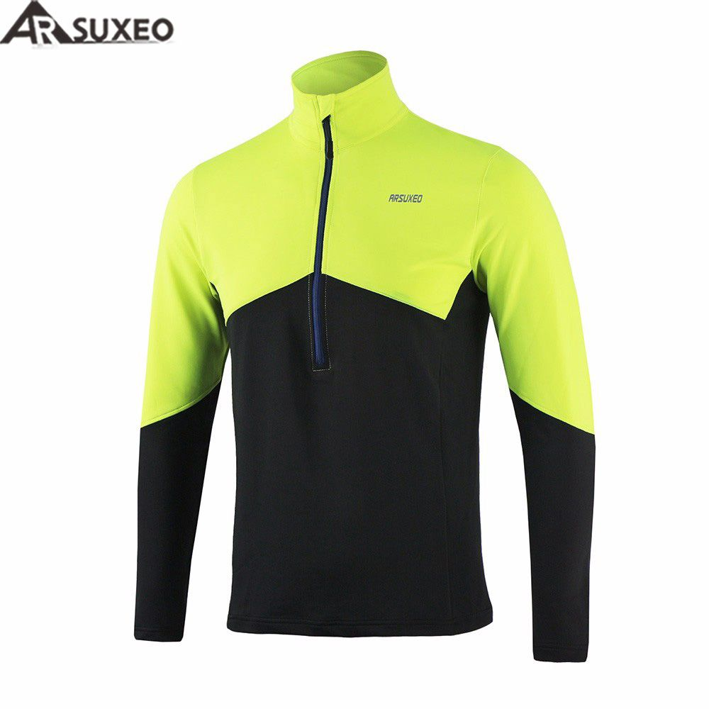 ARSUXEO 2017 Men's Running T Shirts Tee Active Long Sleeves Quick Dry Workout GYM Training Jersey Sports Clothing 16T5