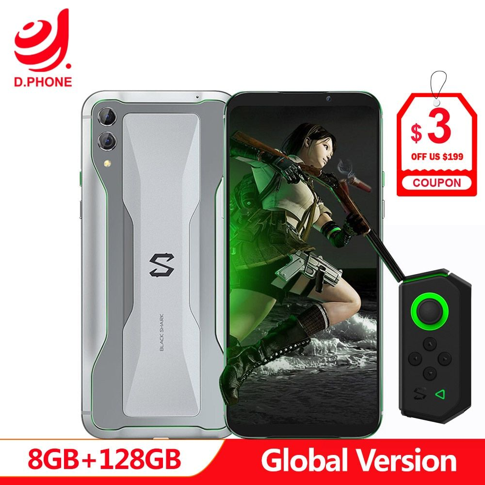 Globale Version Xiaomi Schwarz Shark 2 8 GB 128 GB Gaming Telefon Snapdragon 855 Octa Core 6,39