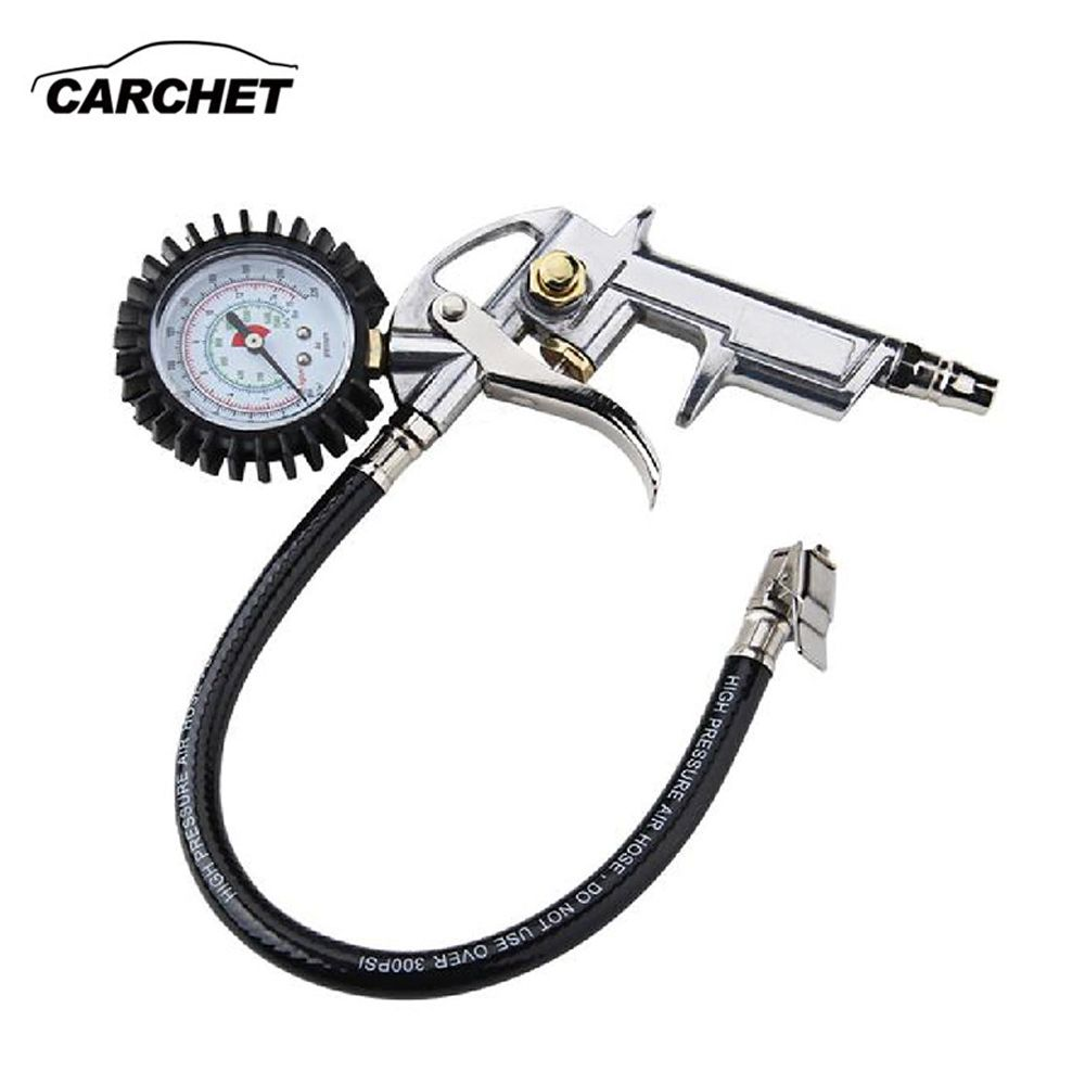 CARCHET Universal Tire Inflator With Pressure Gauge Tyre Pressure Air Inflator Gun For Air Auto Motorcycle Truck Diagnostic-tool