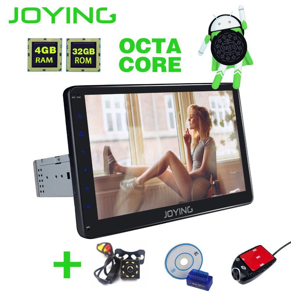 JOYING Offizielle 1 din 10,1 ''4 gb + 32 gb Android 8.0 Auto stereo Radio bluetooth audio Video Out GPS HD Wifi BT carplay Zubehör