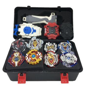 1 set 7 style Beyblade Burst B111 B113 Métal Fusion 4D Avec 4 Lanceur Beyblade Burst Toupie Cadeau De Noël pour Enfants Jouets