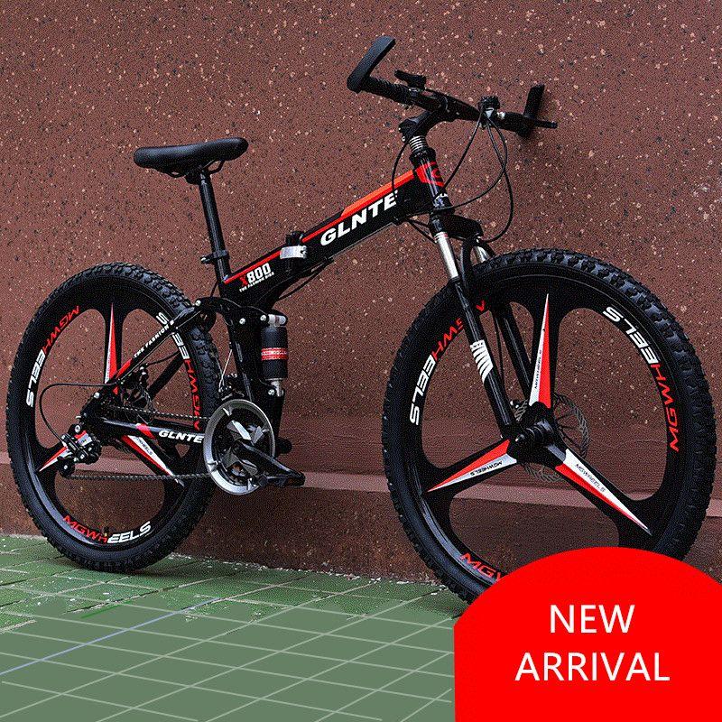 New Brand Mountain Bicycle Carbon Steel Frame 21/24/27 Speed 26 inch Wheel Disc Brake Folding Bike Outdoor Sport Bicicleta
