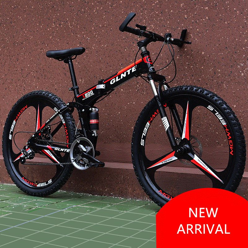 New Brand Mountain Bicycle Carbon Steel Frame 21/24/27 Speed 26 inch Wheel Disc Brake Folding Bike Outdoor Sport Bicicleta