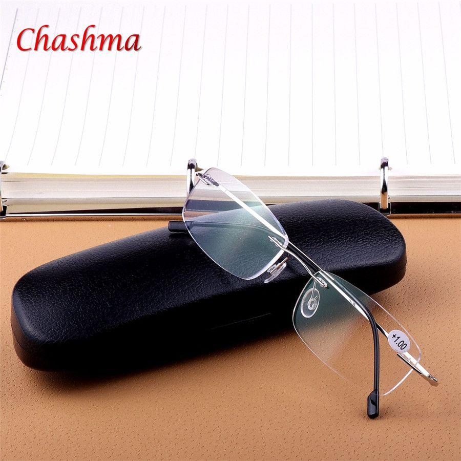 Super léger En Argent. noir Pliant Léger Flexible Mémoire Titane Sans Monture Lunettes de Lecture oculos de grau1.0 1.5 2.0 2.5 3.0 3.5
