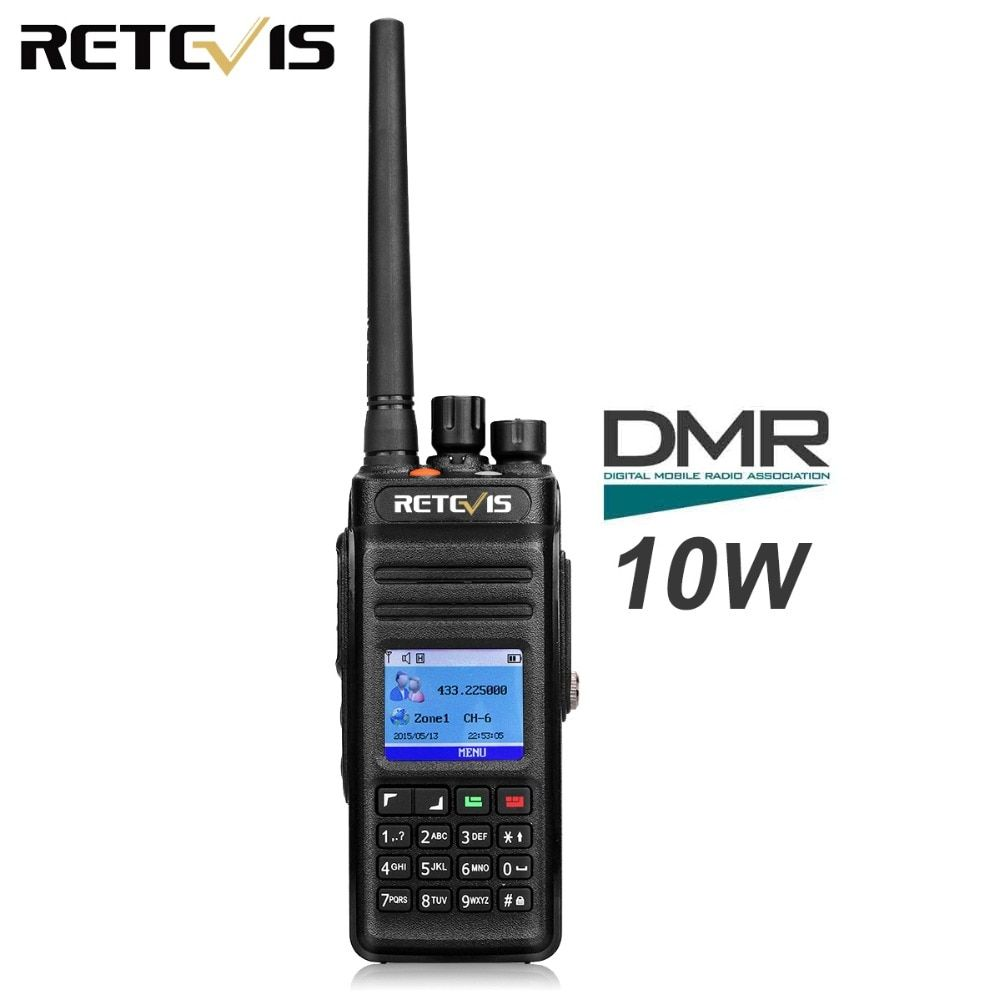 Retevis RT83 10W Walkie Talkie Digital DMR Radio (GPS) IP67 Waterproof UHF 400-470 Mhz Dual Time Digital/Analogue Two Way Radio