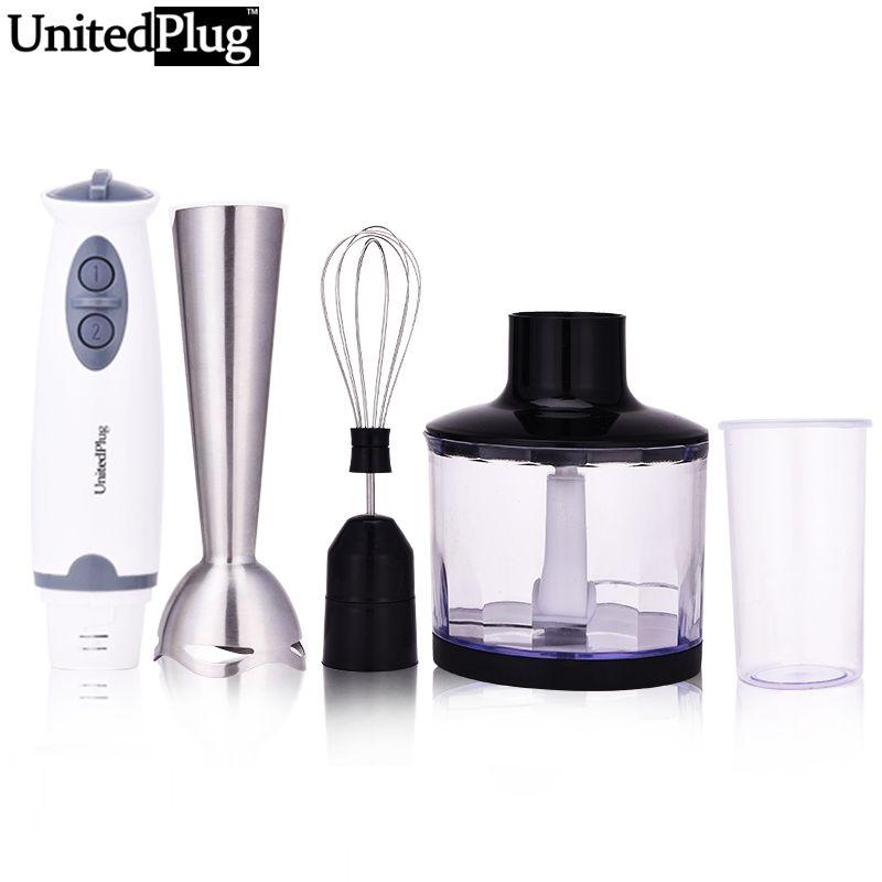 UnitedPlug 4 in 1 Multi-function electric food blender set detachable hand blender kitchen thermomix vegetable blend set 1302B-3