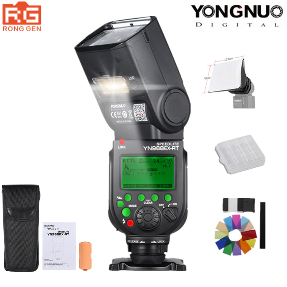 YONGNUO YN968EX-RT Flash Speedlite High-speed Sync TTL Wireless with LED Light for Canon 5DIII 6D 7DII 60D 1100D 1200D 1000D700D