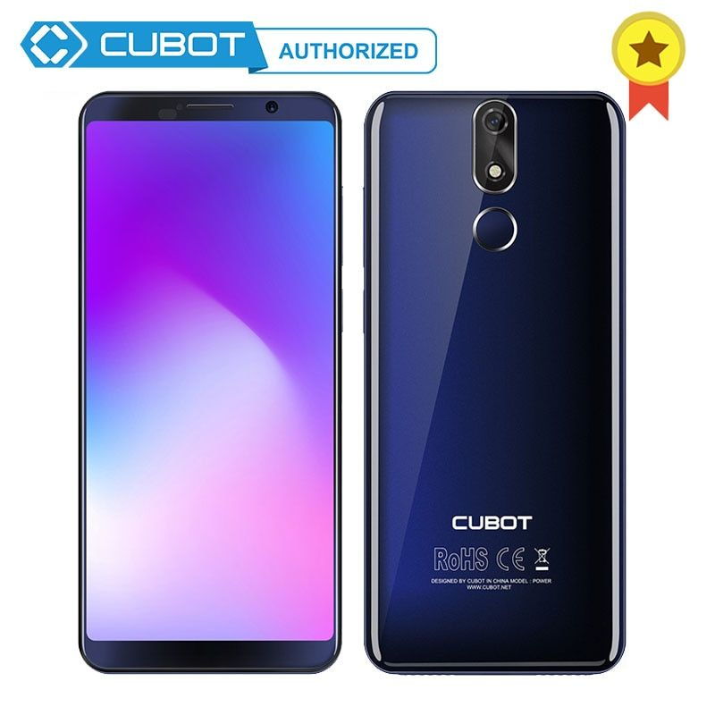 Cubot Power 6000mAh Big Battery Helio P23 Octa-Core 6GB RAM 128GB ROM Android 8.1 18:9 5.99'FHD+Screen Telephone Dual 4G Celular