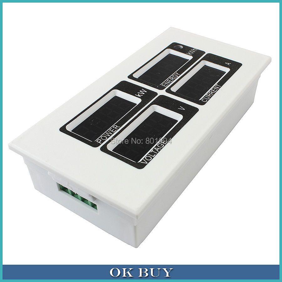 2200 watt PZEM-004 100A AC 80 v ~ 260 v 110 v 220 v Digital Display Multifunktionale Meter Spannung Strom aktive Power Energie