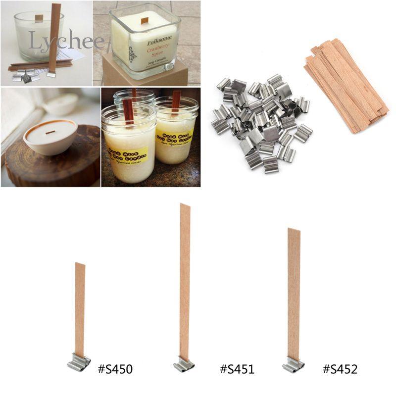 Litchi 50 pièces nouveauté 8mm 12.5mm 13mm bougies en bois mèche durable bougie mèche noyau avec bougie décor à la maison
