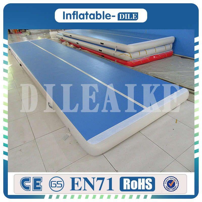 Freies Verschiffen 6x1x0,2 mt Blau Aufblasbare Gymnastik Matratze Gym Wäschetrockner Airtrack Boden Taumeln Luftkissenbahn Für verkauf