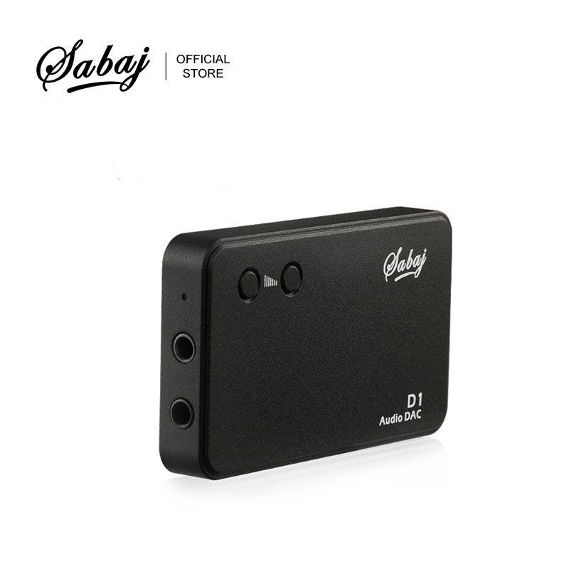 Décodeur d'amplificateur Portable Audio Sabaj D1 tout-en-un avec Mini amplificateur Audio intégré DAC noir argent