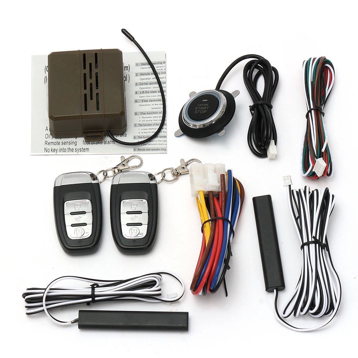 Mulitifuntion Smart E Models Remote Control Car Alarm Start Keyless Entry System Push Button Start Stop System
