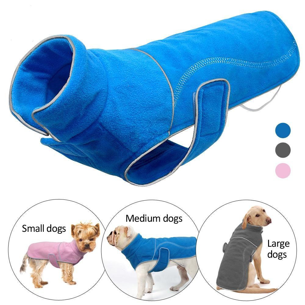 Hiver polaire chien manteau veste pour petits chiens Chihuahua carlin chaud chiot grands chiens gilet vêtements réfléchissant Roupa Cachorro S-5XL