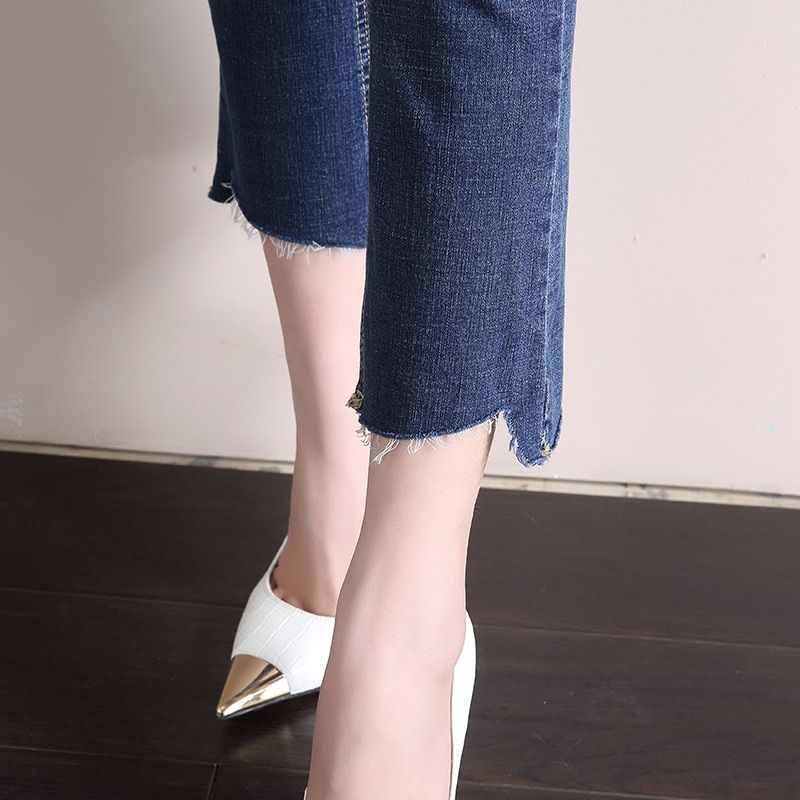 DN Racer Biker Jeans Fashion Hiphop Skinny Jeans For Jeans Vintage Mom Style Pencil Jeans High Quality Cowboy Denim 1FL001-016