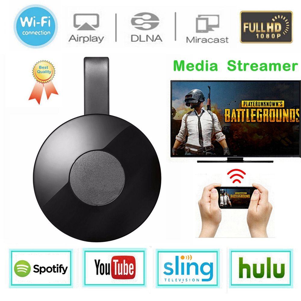 WiFi Display Dongle Media Streamer for Google Chromecast 2 Audio HDMI Crome Chrome Cast Cromecast 2 YouTube Miracast Mirascreen