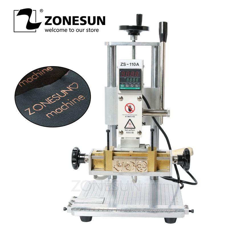 ZONESUN ZS110A Leder Bronzing Rillen Präge Maschine Heißer Folie Stanzen Maschine DIY Geschenk PVC Presse Embossor 110 V/220 V