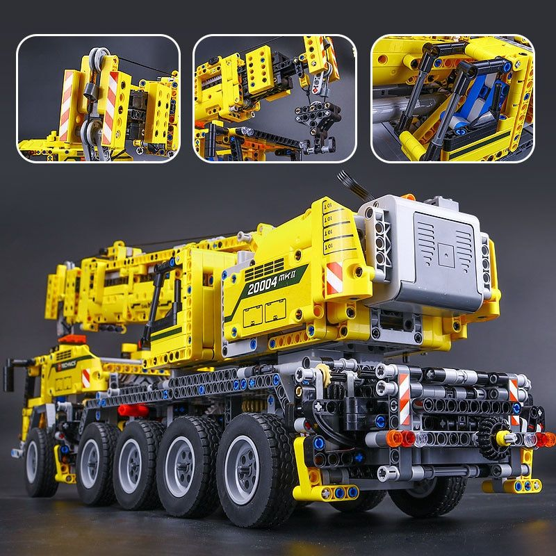 New LEPIN 20004 2606Pcs Technic Motor Power Mobile Crane Mk II Model Building Kits Blocks Bricks birthday LegoINGlys Gift 42009