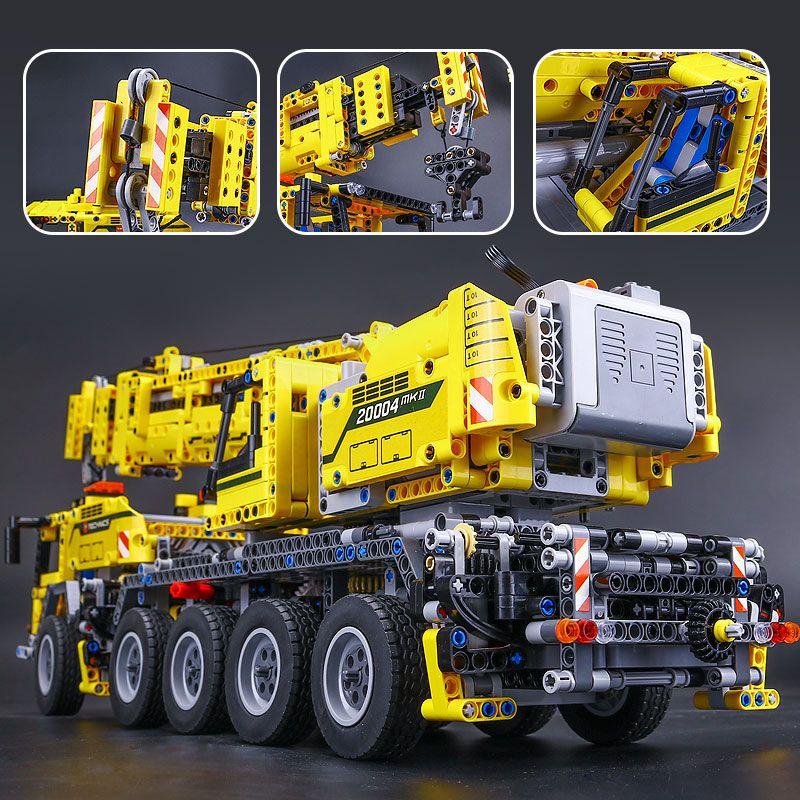 Nouveau 20004 2606 pcs Technique Moteur Puissance Mobile Grue Mk II Modèle Kits de Construction Blocs Briques d'anniversaire LegoINGlys Cadeau 42009