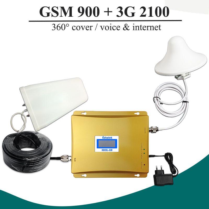 Горячая Распродажа! ЖК-дисплей GSM 900 3g сигнала Dual Band Repeater GSM 900 мГц 3g UMTS 2100 мГц сотовый усилитель GSM 3g WCDMA 2100 Сотовая связь Booster