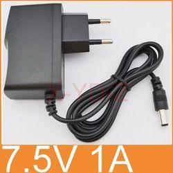 1 PCS de Haute qualité AC 100 V-240 V Converter Switching power adaptateur DC 7.5 V 1A 1000mA Fournir Plug UE DC 5.5mm x 2.1mm