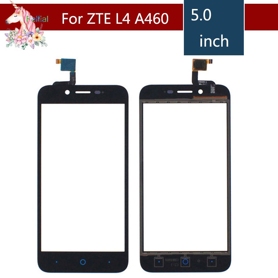 5.0 For ZTE Blade L4 A460 LCD Touch Screen Digitizer Sensor Outer Glass Lens Panel Replacement