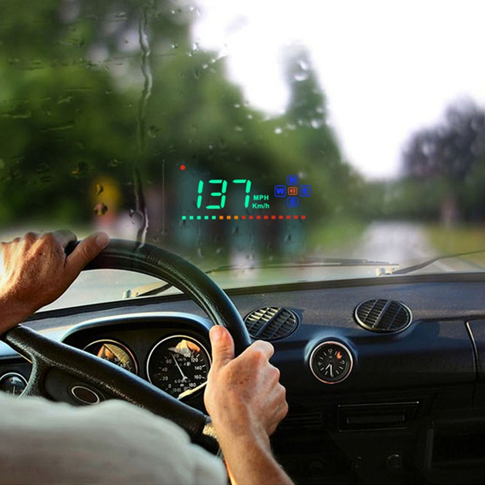 Compatible with All Car Speed Projector On The Windshield Head Up Display GPS HUD Overspeed Alarm Auto Digital Speedometer