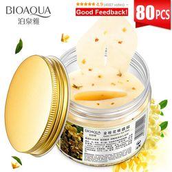 BIOAQUA Gold осмотическая маска для глаз для ухода за глазами 80 шт. анти-отечность увлажняющая для сна Patche Remover Темные Круги Патчи для глаз