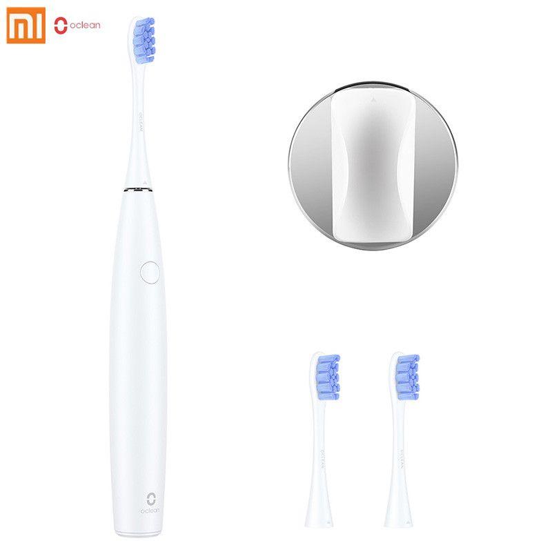2018 Original Xiaomi Oclean SE Rechargeable Sonic électrique brosse à dents APP contrôle avec 2 têtes de brosse et 1 support mural pour adulte