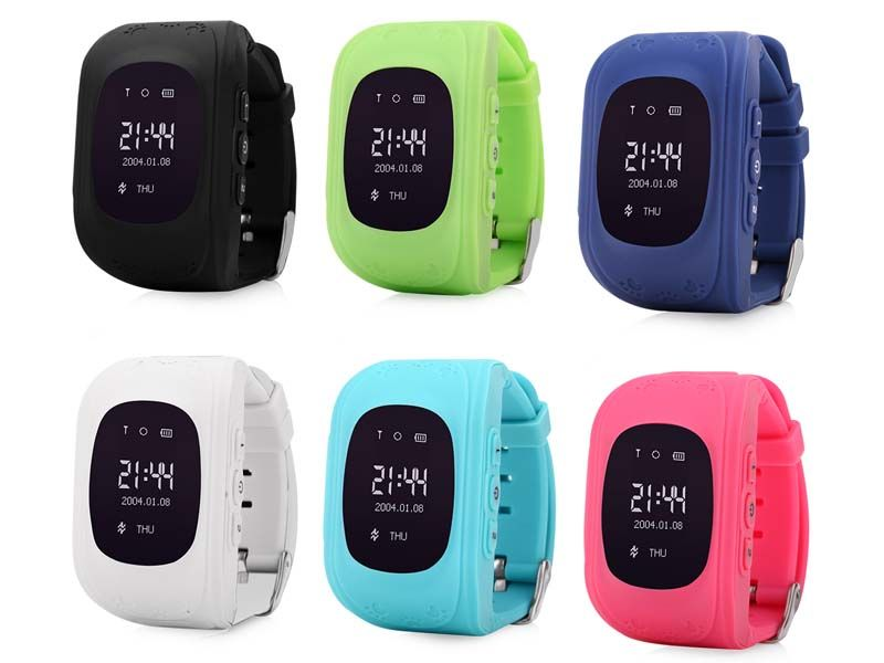 Q50 GPS Tracker Watch For Kids SOS Emergency Anti Lost Bracelet Wristband Q50 Wearable Devices OLED Finder Locator Tracker GSM