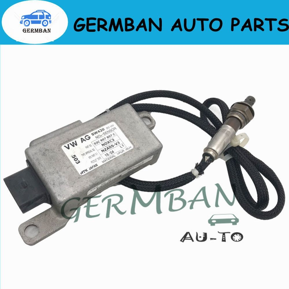 New Manufactured Exhaust NOX SENSOR for VW VOLKSWAGEN GOLF TOURAN AUDI A3 8P 1.6 FSi No# 03C907807D 03C907807C(NOXC3) NZA05-V4