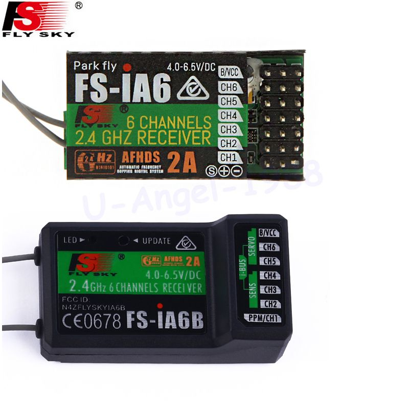 Flysky FS-iA6 FS-iA6B 6CH 6 Kanal Fernsteuerung Receiver Kompatibel Flysky i4 i6 i10 GT2E GT2F GT2G Sender