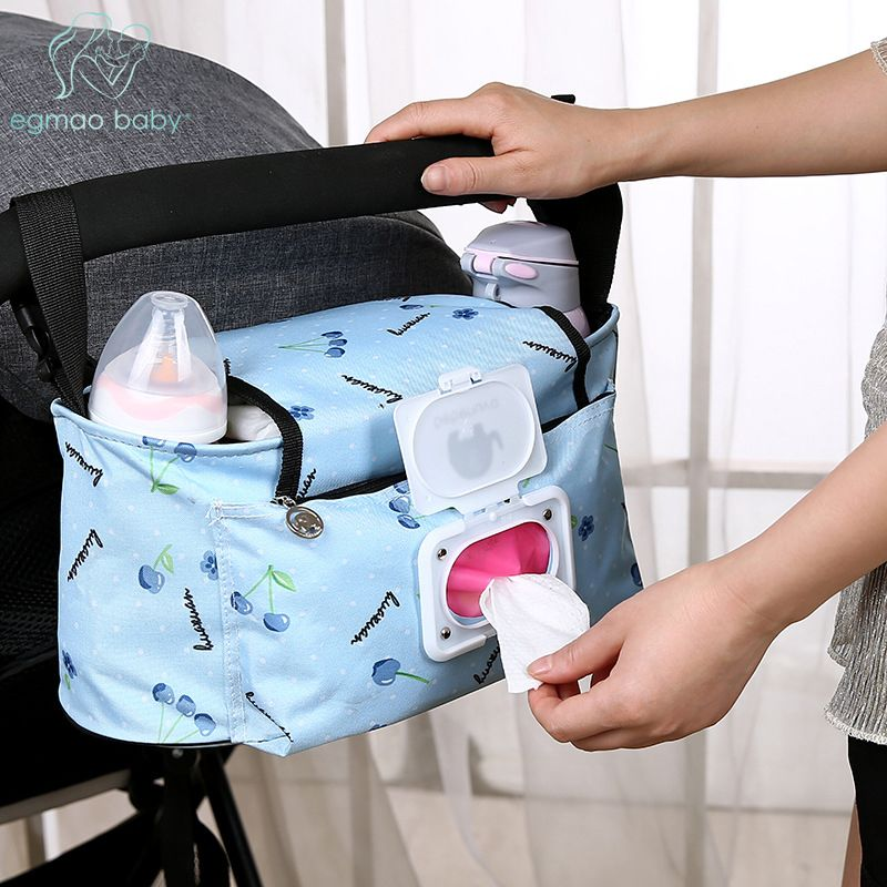 Baby Stroller Bags Large Capacity Mummy Nappy Bag Multifunction Travel Diaper Bag Maternity Nursing Hanging Storage Bag