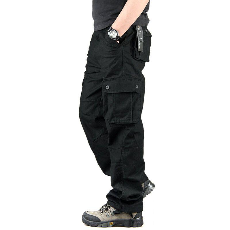 Высокое качество Мужские брюки карго Повседневное Для мужчин S Пант нескольких Карманный Военная Униформа комбинезон для Для мужчин на отк...