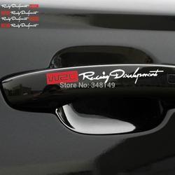Aliauto 4 x Date WRC Porte De La Voiture Poignée Autocollants et décalcomanies réfléchissant Voiture De Rallye Autocollants pour toyota vw skoda kia lada opel