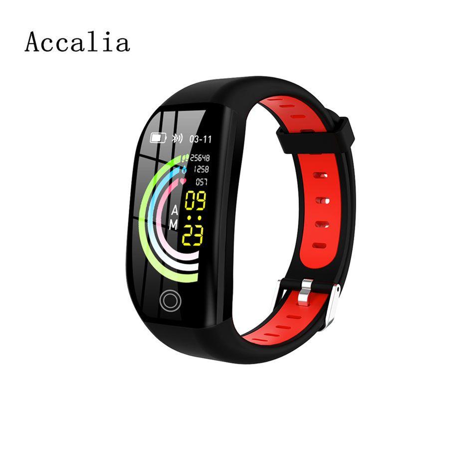 Accalia F21 smart band GPS fitness tracker heart rate blood pressure monitor fitness smart watch wristband