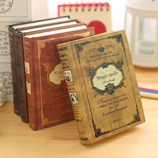 Style européen épais rétro livre magique cahier papeterie trompette A6 épais créatif portable carnet de notes voyageurs carnet
