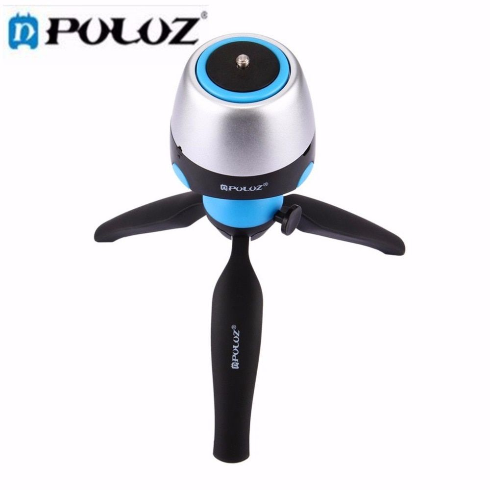 PULUZ 360 Panoramic Tripod Head dslr Tripod Mount Phone Clamp with Remote Controller for Smartphones, GoPro, DSLR Camera