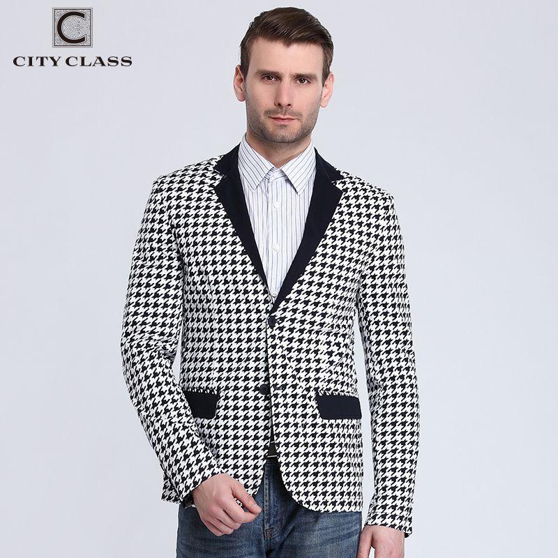 City Class 2016 New Spring Mens Blazer Fashion Slim Fit Business Casual Suits Eupo Size Jackets Veste Costume Homme 6009