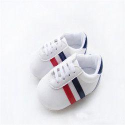Bebe Bébé Garçons Filles Doux Sole Lit Chaussures PU En Cuir Anti-slip Chaussures Enfant Sneakers 0-12 M enfants Chaussures