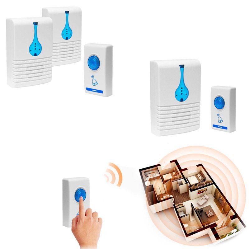 Wireless Door Bell Home Cordless Portable 32 Chime 100M Range Digital Doorbells CLH