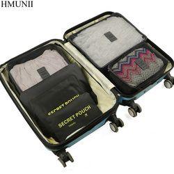 Hmunii 6 unids/set alta calidad Oxford tela viajes malla en bolso cubo del embalaje del organizador del equipaje organizador para la ropa C1-06
