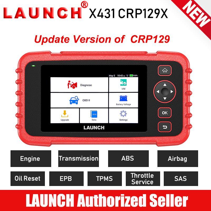 New START X431 CRP129X OBD2 Auto Scanner Automotive Diagnostic Tool Auto Scan Diagnosen 4 System TPMS PK Creader VIII CRP129