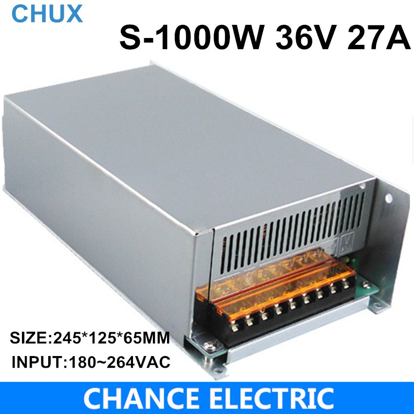 S-1000-36 CE approved high quality SMPS Led switching power supply 36V 27A 1000W 110/220V ac to dc 36v